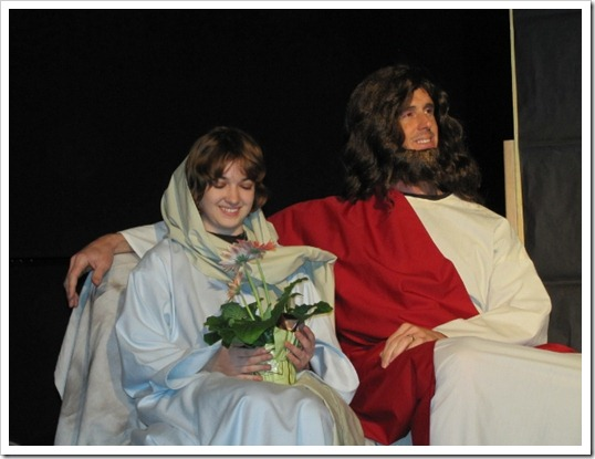 Jesus Hanging Out With Mary